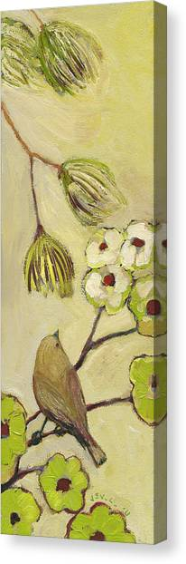 Sparrows Canvas Print - Beyond The Dogwood Tree by Jennifer Lommers