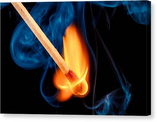 Beyond The Flame Canvas Print