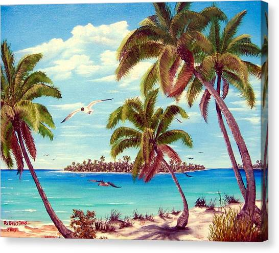 Beyond The Palms Canvas Print by Riley Geddings