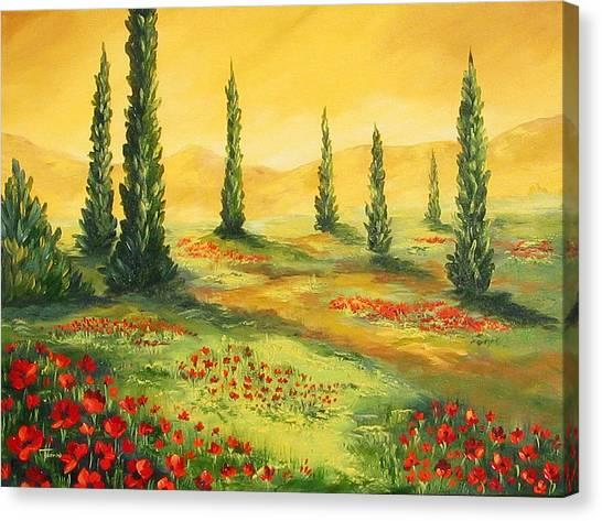 Beyond The Tuscan Sun  Canvas Print by Torrie Smiley