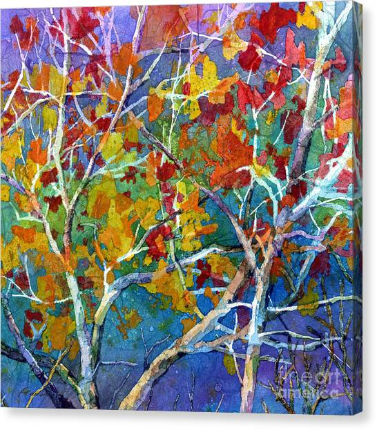 Beyond The Woods - Orange Canvas Print