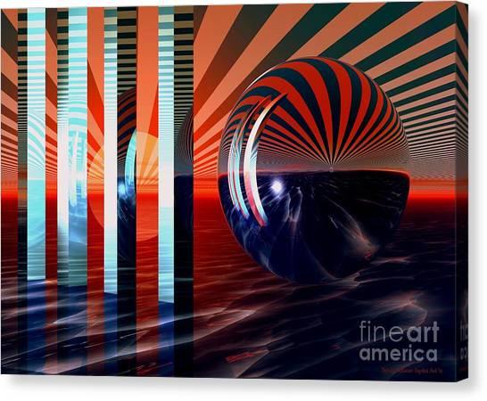 Beyond Tomorrow Canvas Print by Sandra Bauser Digital Art