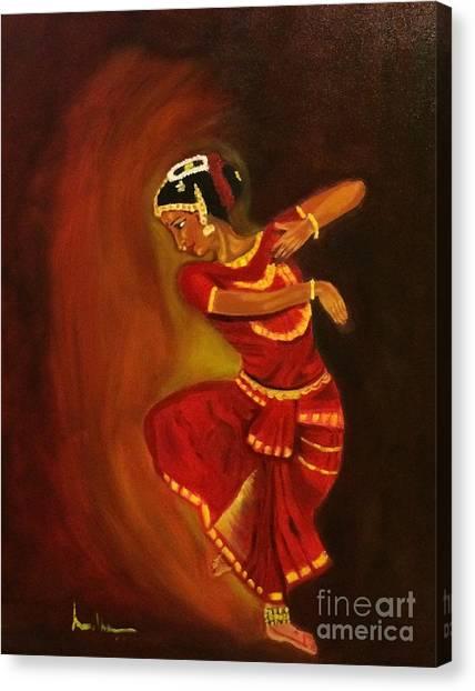 Bharatnatyam Dancer Canvas Print