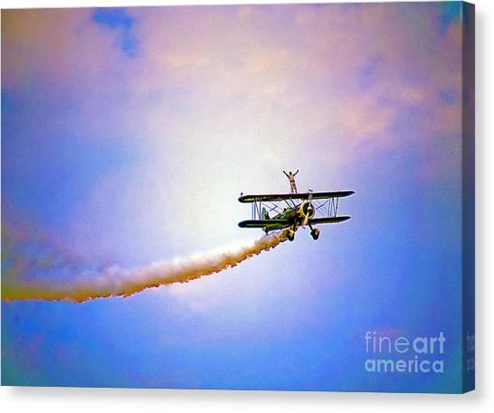 Bi-plane And Wing Walker Canvas Print