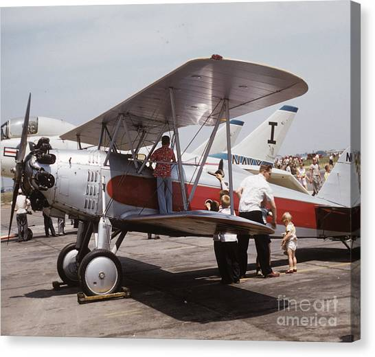 Canvas Print featuring the photograph Bi-wing-3 by Donald Paczynski