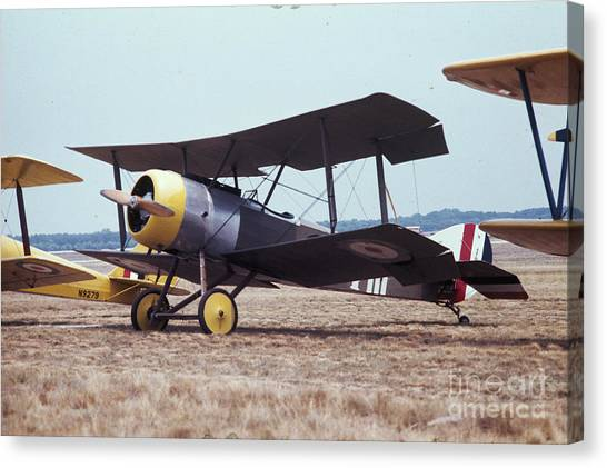Canvas Print featuring the photograph Bi-wing-4 by Donald Paczynski