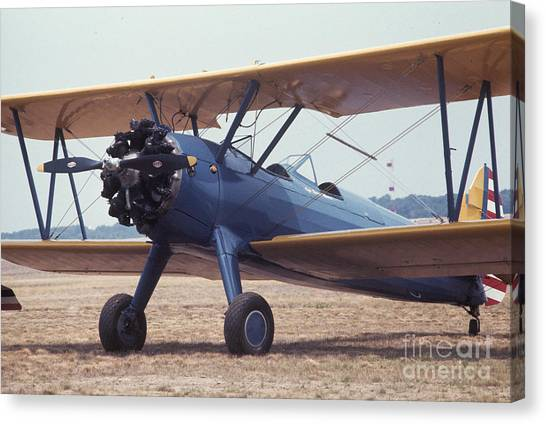Canvas Print featuring the photograph Bi-wing-8 by Donald Paczynski