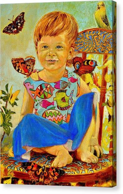 Parrot Fish Canvas Print - Bianka And Butterflies by Henryk Gorecki