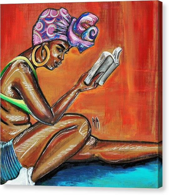 Supplies Canvas Print - Bible Reading by Artist RiA