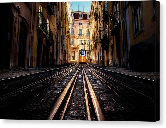 Light Rail Canvas Print - Bica by Jorge Maia