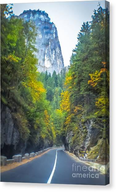 Bicaz Canyon Canvas Print