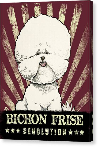 Bichon Frise Revolution Canvas Print