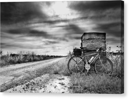 Bicycle Break Canvas Print