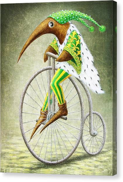Fantasy Creatures Canvas Print - Bicycle by Lolita Bronzini