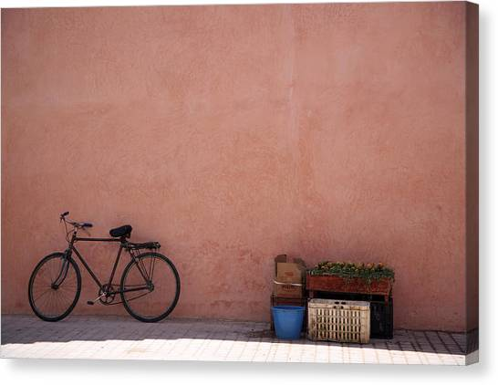 Bicycle Marrakech  Canvas Print by Pauline Cutler