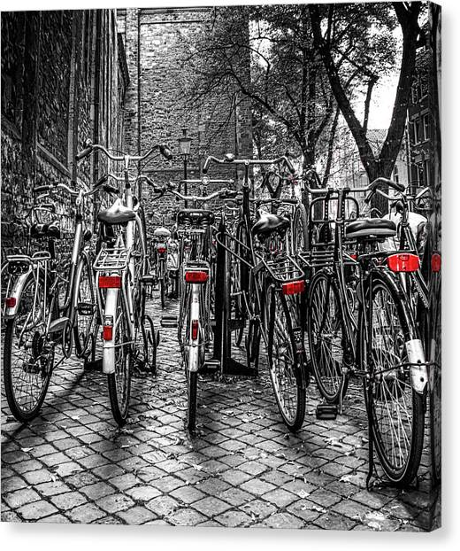 Bicycle Park Canvas Print