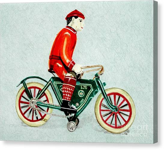 Bicycle Rider Canvas Print