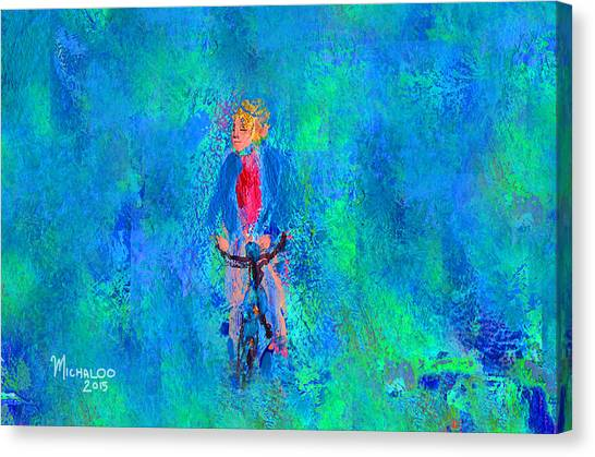 Bicycle Rider Canvas Print