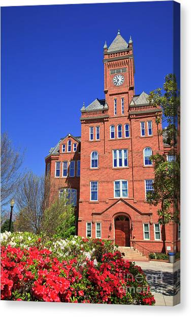 Biddle Hall In The Spring Canvas Print