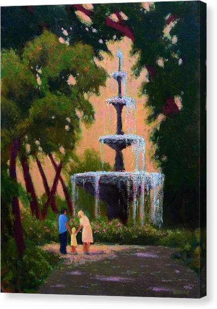 Bienville Square Fountain Canvas Print