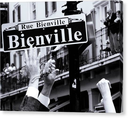 Bienville Street In New Orleans Canvas Print by Ray Devlin