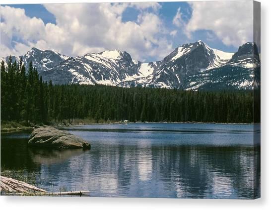Bierstadt Lake Hallett And Otis Peaks Rocky  Mountain National Park Canvas Print