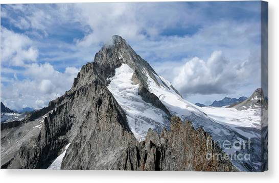 Ice Climbing Canvas Print - Bietschhorn by DiFigiano Photography