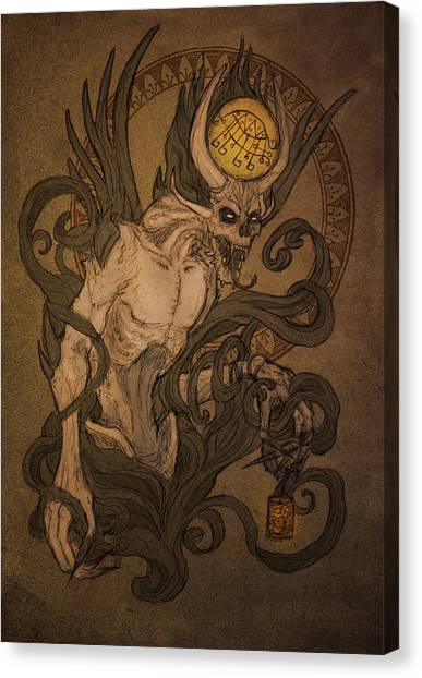 Beast Canvas Print - Demons Of Goetia - Bifrons by Cambion Art