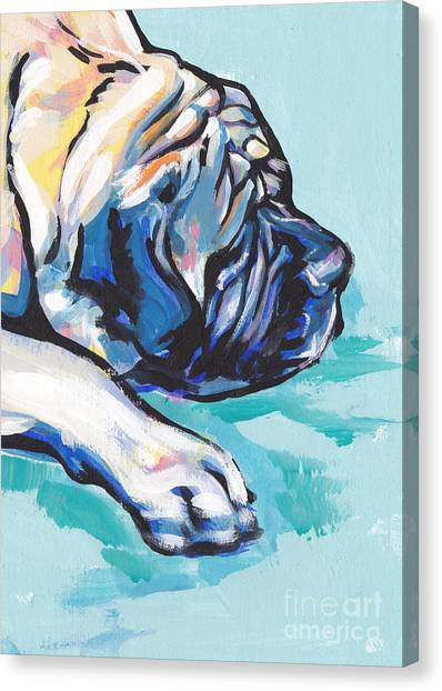 Mastiffs Canvas Print - Big And Sweet by Lea S