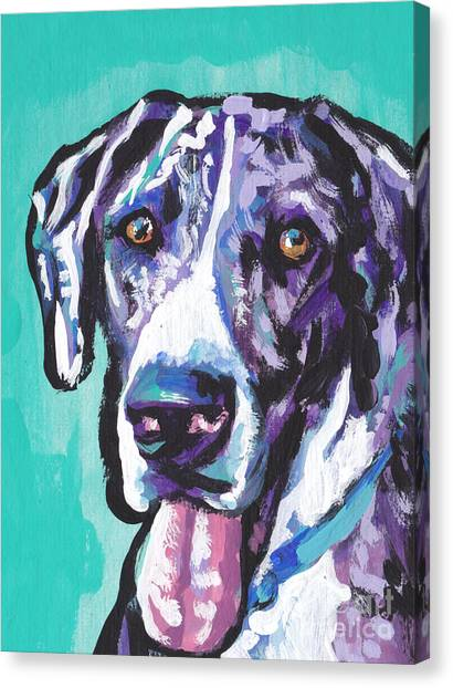 Great Danes Canvas Print - Big Baby Dane by Lea S