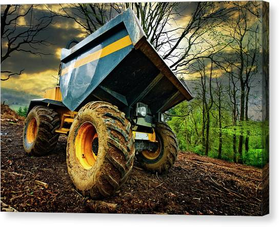 Big Bad Dumper Truck Canvas Print