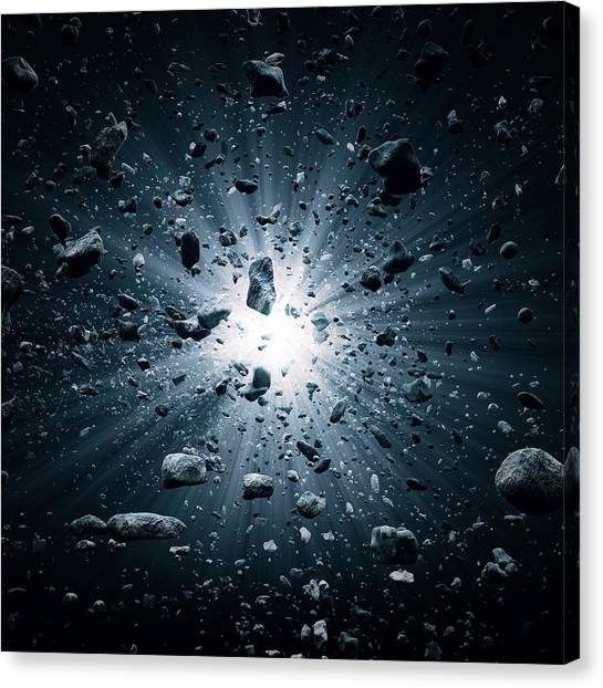 Particle Canvas Print - Big Bang Explosion In Space by Johan Swanepoel