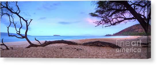 At The Beach Canvas Print - Big Beach In Makena Maui by Dustin K Ryan