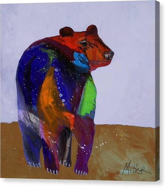 Black Bears Canvas Print - Big Bear by Tracy Miller