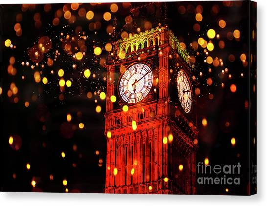 Big Ben Aglow Canvas Print