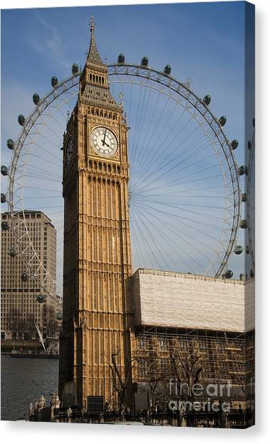 Big Ben And Eye Canvas Print by Donald Davis