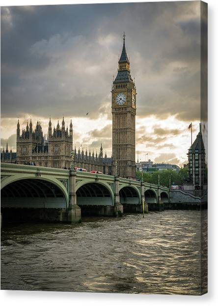 Big Ben At Sunset Canvas Print