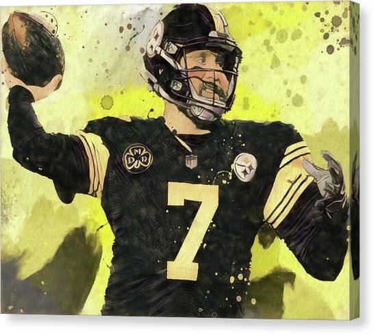Ben Roethlisberger Canvas Print - Big Ben by Dan Sproul