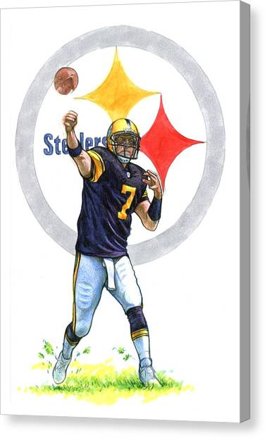 Ben Roethlisberger Canvas Print - Big Ben by Erik Schutzman