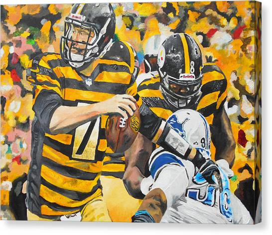 Ben Roethlisberger Canvas Print - Big Ben by Kevin J Cooper Artwork