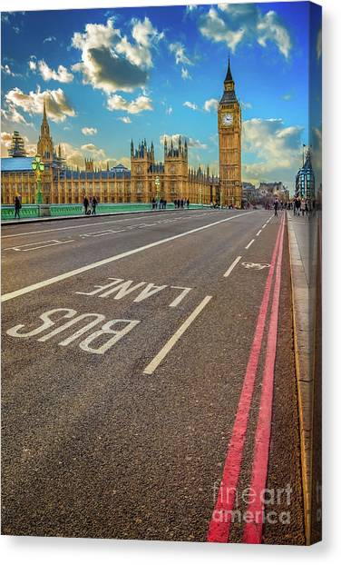 Palace Of Westminster Canvas Print - Big Ben Westminster by Adrian Evans