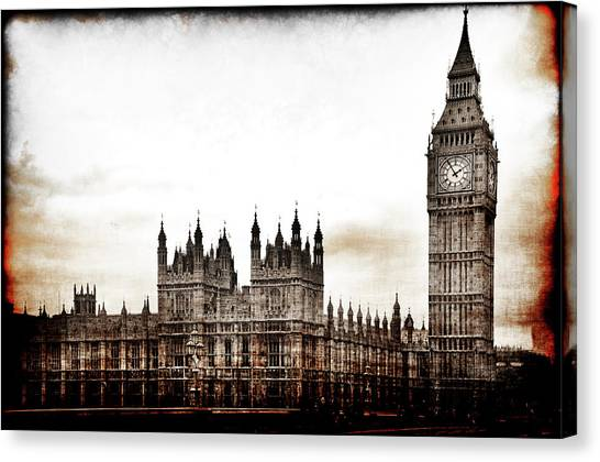 Big Bend And The Palace Of Westminster Canvas Print
