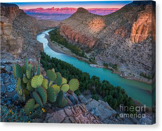 Big West Canvas Print - Big Bend Evening by Inge Johnsson
