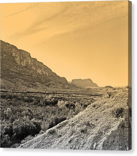 Big Bend Natinal Park At Sunset Canvas Print