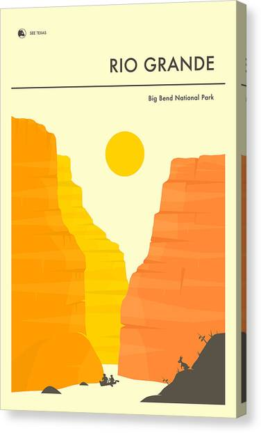 Grande Canvas Print - Big Bend National Park Poster by Jazzberry Blue