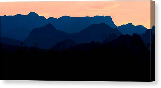 Big Bend Orange Blue Layers Canvas Print