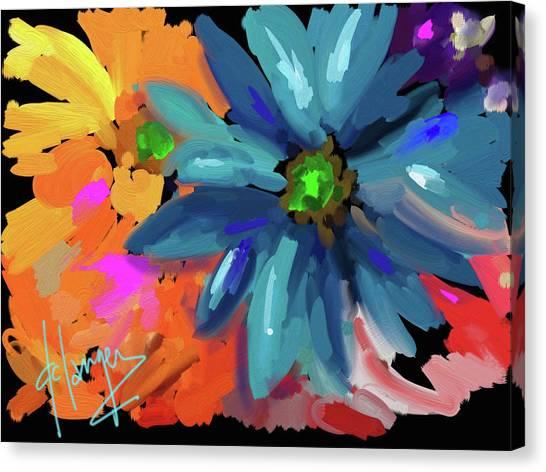 Big Blue Flower Canvas Print