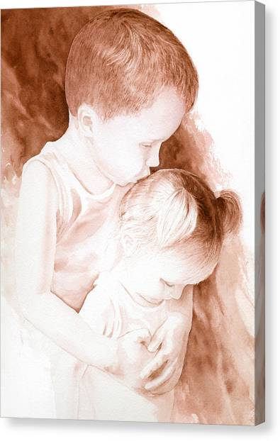 Big Brothers Hug Canvas Print