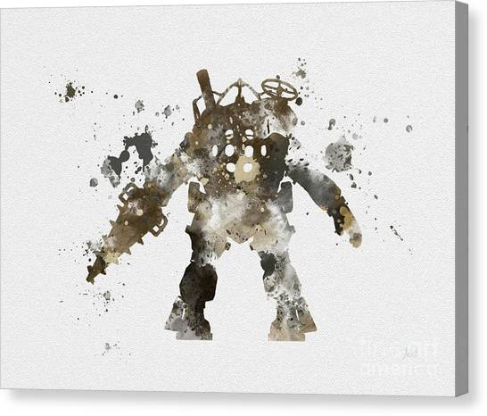 Playstation Canvas Print - Big Daddy by Rebecca Jenkins