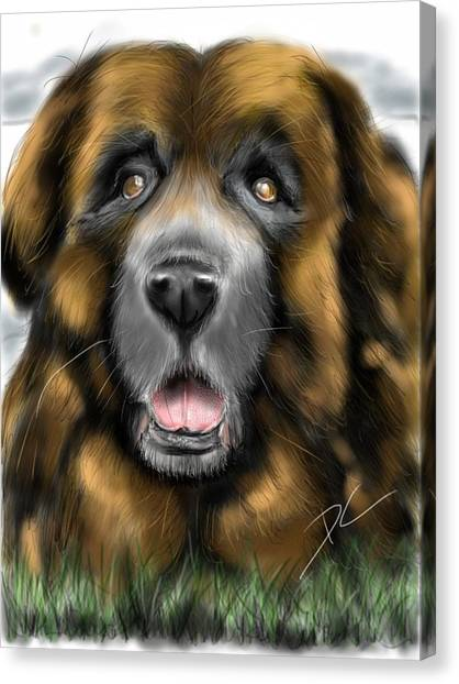 Canvas Print featuring the digital art Big Dog by Darren Cannell